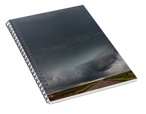 Storm Chasin In Nader Alley 008 Spiral Notebook