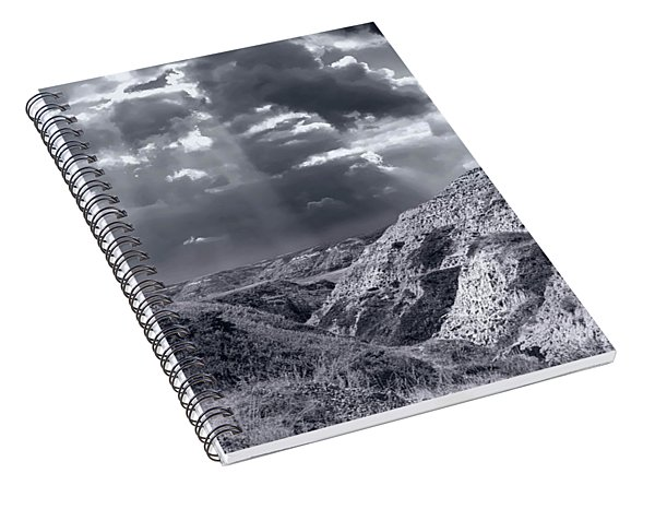 Storm Over The Badlands Spiral Notebook