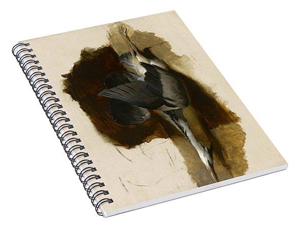 Study Of A Dead Heron Spiral Notebook