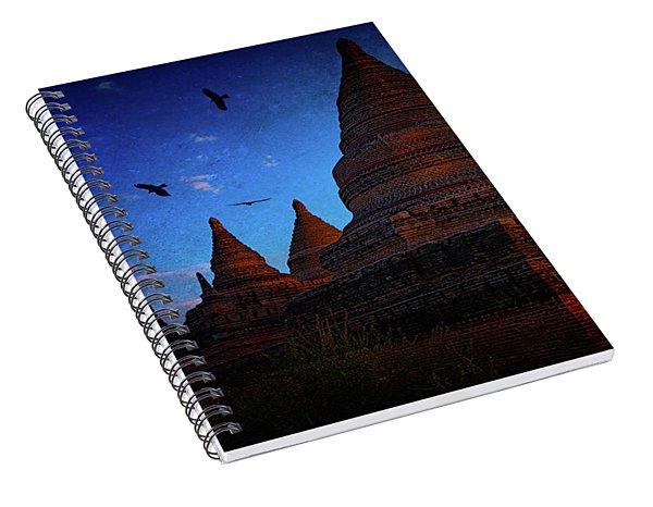 Stupas At Nightfall Spiral Notebook