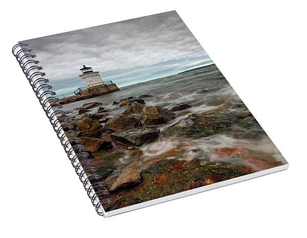 Summer Tides At Bug Light Spiral Notebook