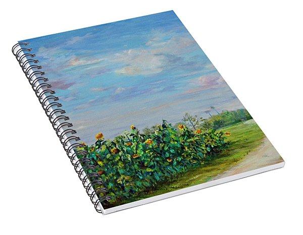 Sunflower Field Ptg Spiral Notebook