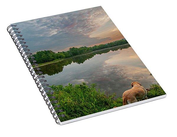Sunrise At Ross Pond Spiral Notebook