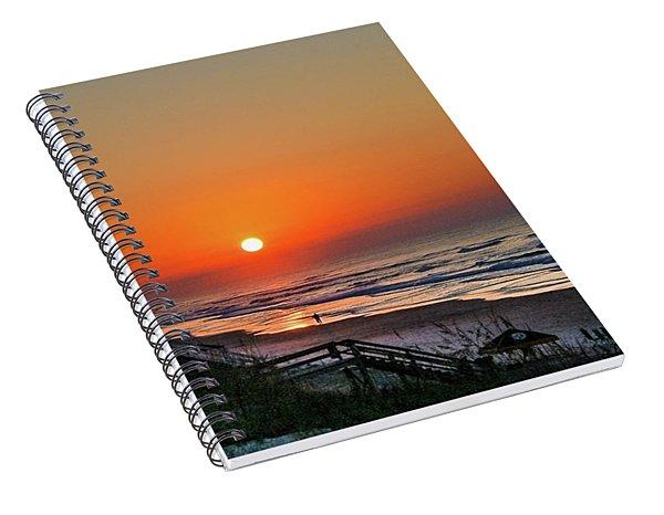 Sunset At Surf City Nc Spiral Notebook