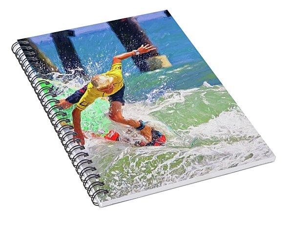 Surfer Yellow Spiral Notebook