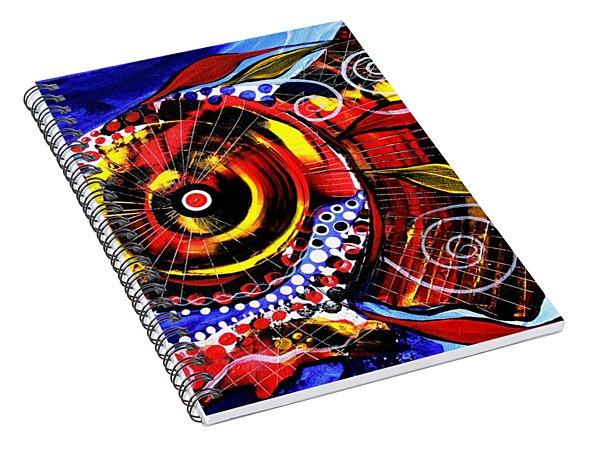 Swollen, Red Cavity Fish Spiral Notebook