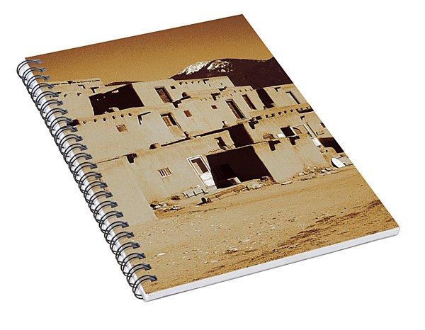 Taos Pueblo New Mexico - Vintage Photo Art Spiral Notebook