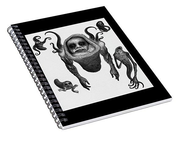 The Corrupted Demon Profile - Artwork Spiral Notebook