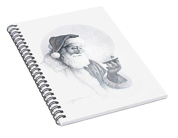The Spirit Of Christmas Vignette Spiral Notebook