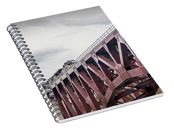 Train Over Letchworth Spiral Notebook