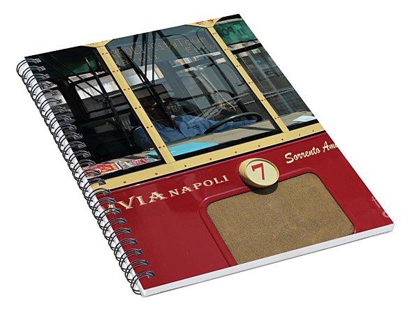 Tram Naples Spiral Notebook