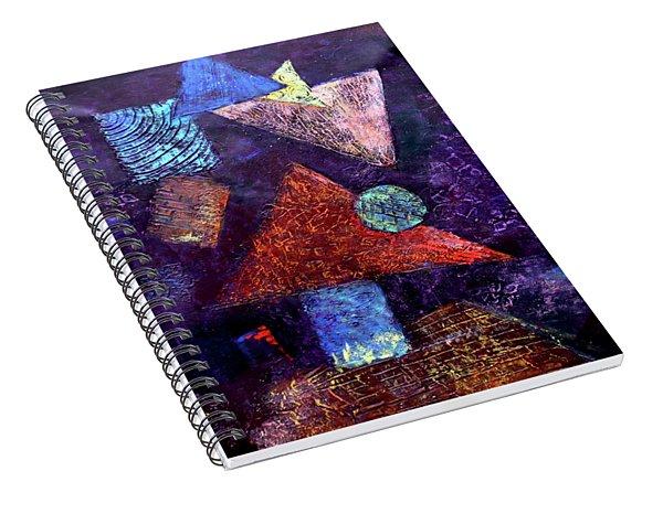 Trio Triangles  Spiral Notebook