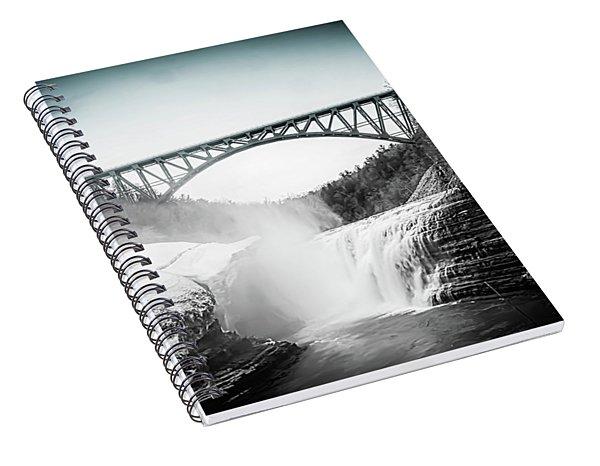 Upper Falls At Letchworth State Park Spiral Notebook
