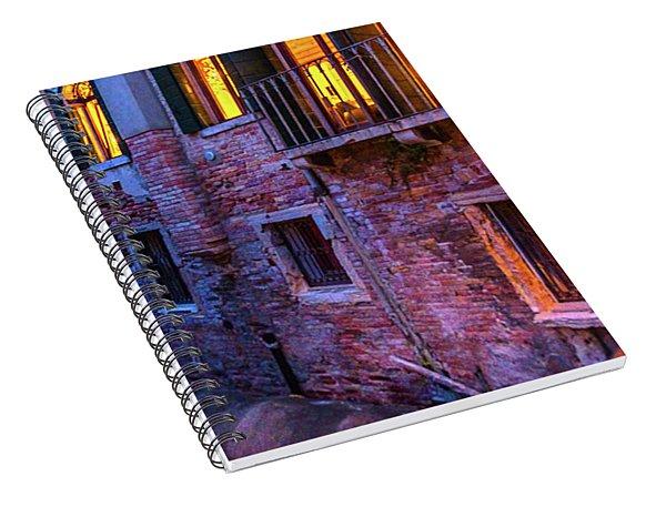 Venice Windows At Night Spiral Notebook
