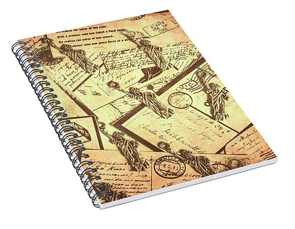 Vintage New York Post Spiral Notebook