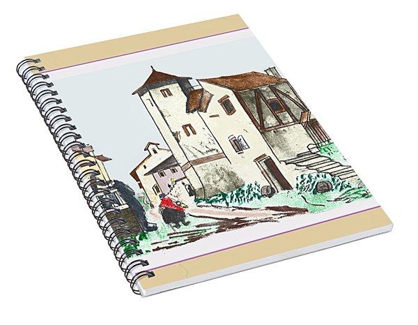 Walk Through Town Spiral Notebook