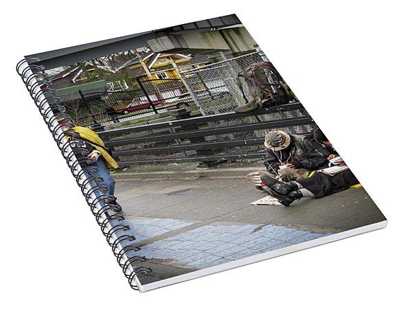 Walking-travellers Spiral Notebook