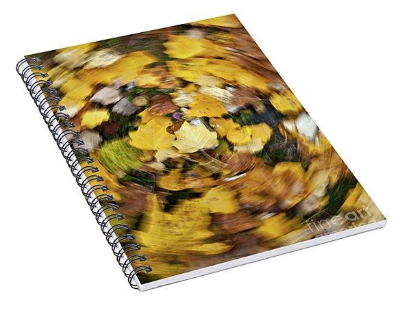 Whirlpool Of Autumn Spiral Notebook