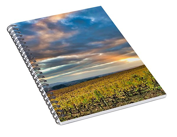 Willamette Valley In Fall Spiral Notebook