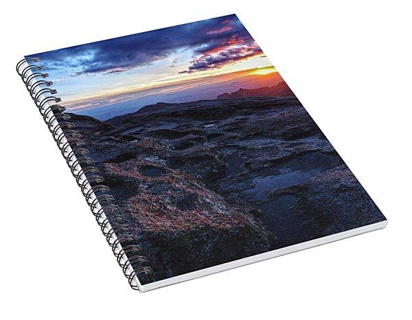 Windy Point Sunset Spiral Notebook