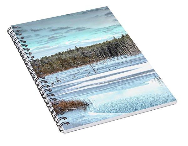 Winter At Lake Oswego Spiral Notebook