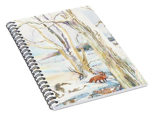 Winter Morning Fox Spiral Notebook