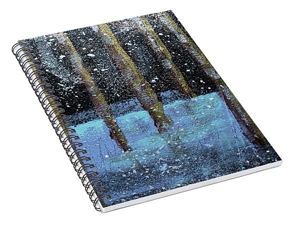 Wintry Scene I Spiral Notebook