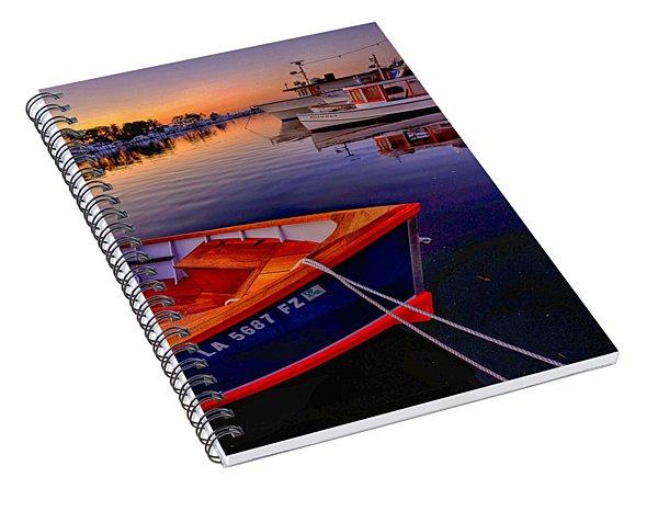 Wooden Boats Spiral Notebook