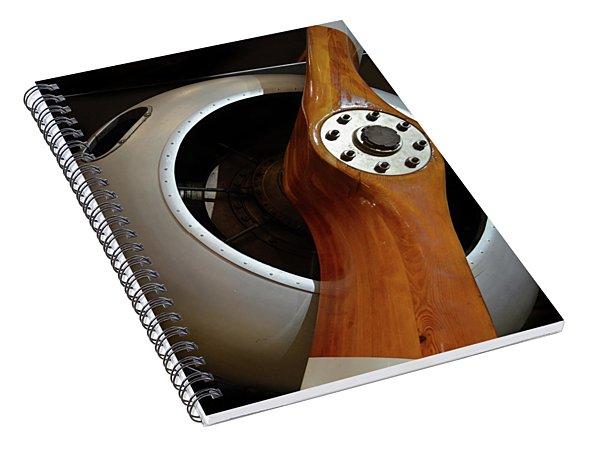 Wooden Propeller Spiral Notebook