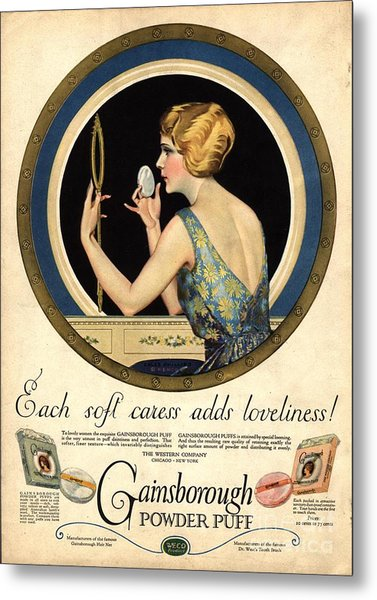 1910s Usa Pampering Make-up Makeup Metal Print by The Advertising Archives