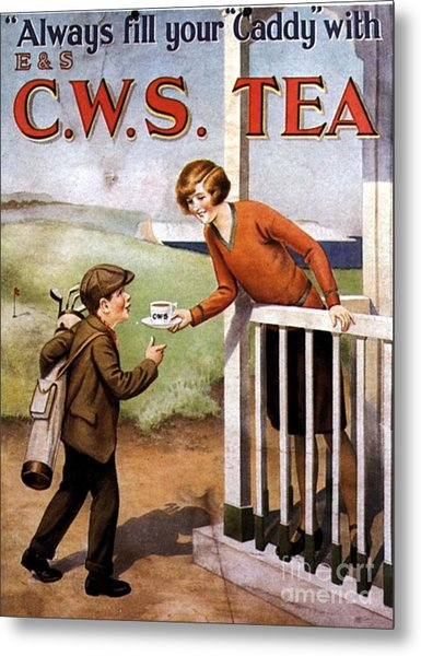 1920s Uk Tea Golf Cws Metal Print by The Advertising Archives