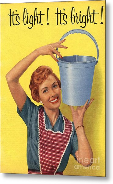 1950s Uk Housewife Housewives Buckets Metal Print by The Advertising Archives