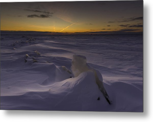-25 Freezing Sunset Metal Print