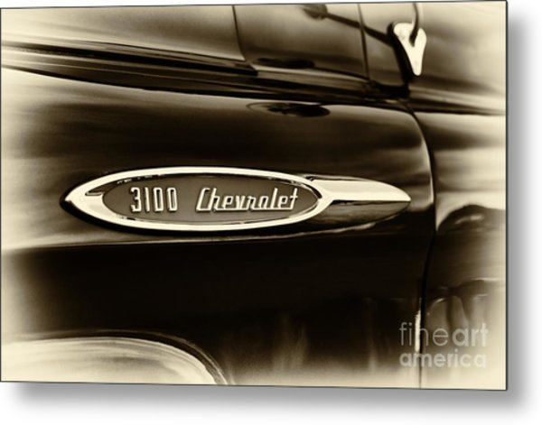 3100 Chevrolet Truck Sepia Metal Print by Tim Gainey