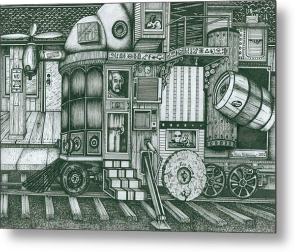 A Traveling Cabinets Of Curiosities Metal Print