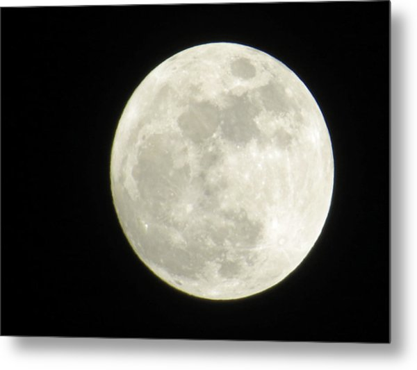 A Winter'sfullmoon Over Ga Metal Print