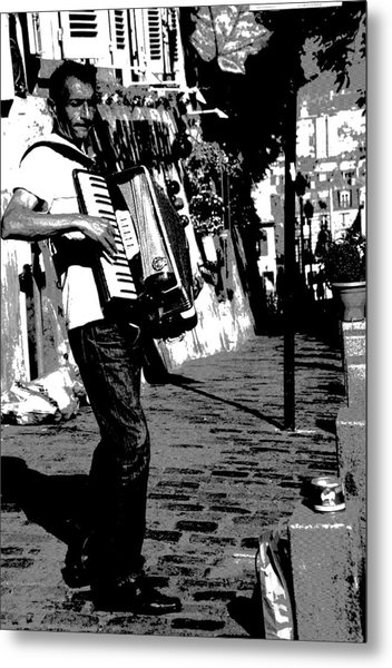 Accordioniste Metal Print