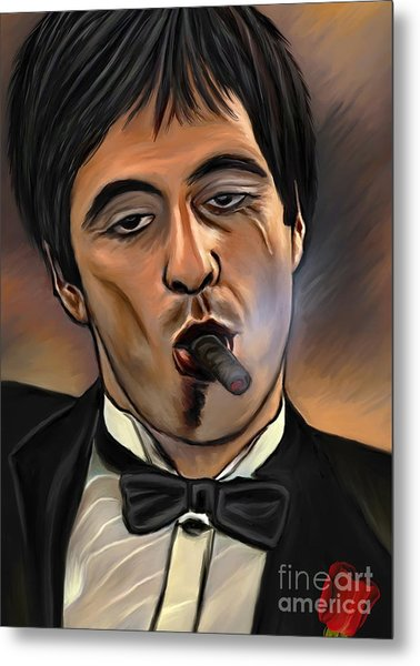Al Pacino-godfather Metal Print