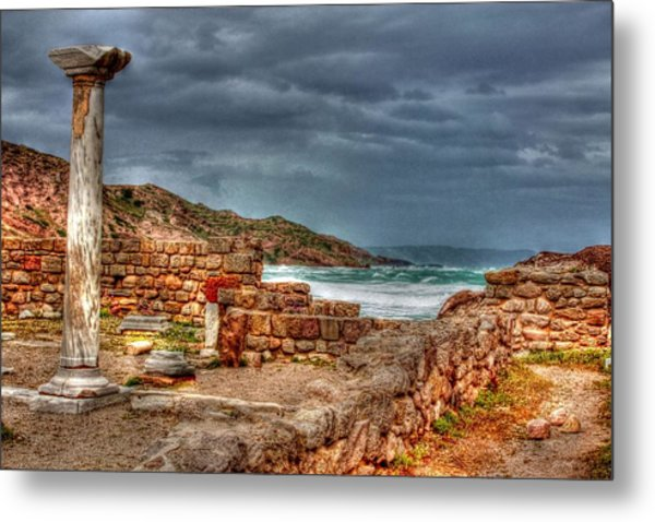 Ancient Ruins In Kefalos Kos Greece Metal Print