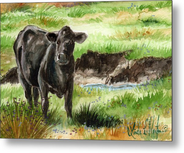 Metal Print featuring the painting  Angus by Linda L Martin
