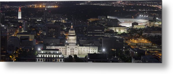 Panorama Of The State Capitol From The Austin Skyline Metal Print