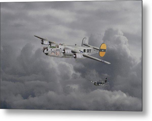 B24 Liberator  446th Bomb Group Metal Print