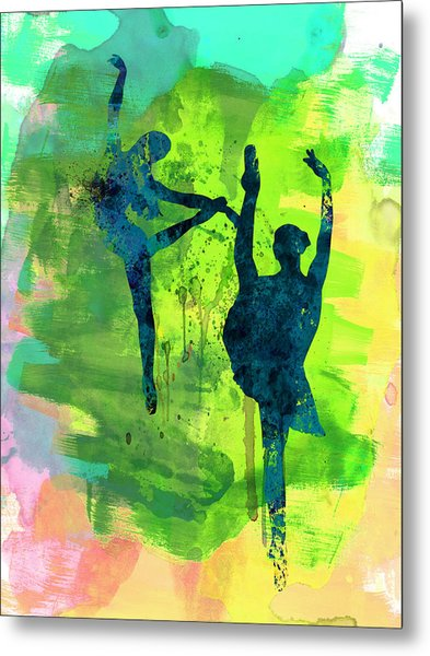 Ballet Watercolor 1 Metal Print