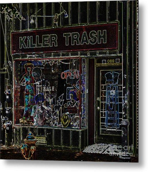 Baltimore Storefront Impression Metal Print