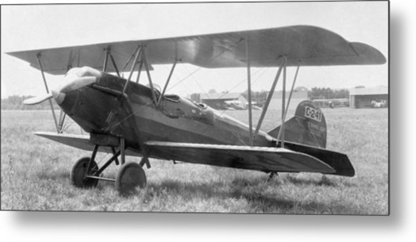 Beech Travelaire With Ox-5 Engine Metal Print by Hank Clark
