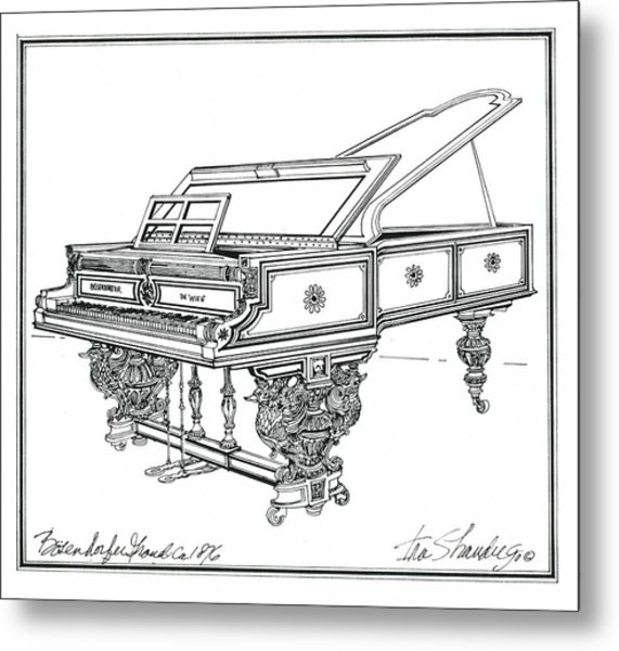Bosendorfer Centennial Grand Piano Metal Print