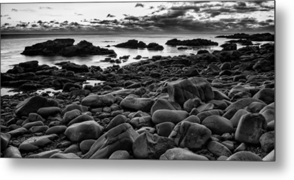 Metal Print featuring the photograph  Boulders At Sunrise Marginal Way by Jeff Sinon