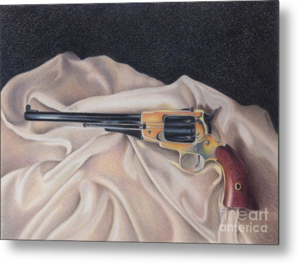 Buffalo Blackpowder Revolver  Metal Print