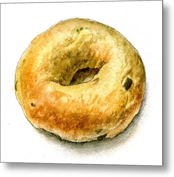 Cafe Steve's Jalapeno Cheddar Bagel Metal Print