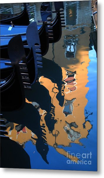 Canal Shimmer Metal Print by Jacqueline M Lewis
